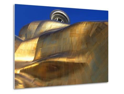 The Experience Music Project, Seattle, Washington, USA-William Sutton-Metal Print