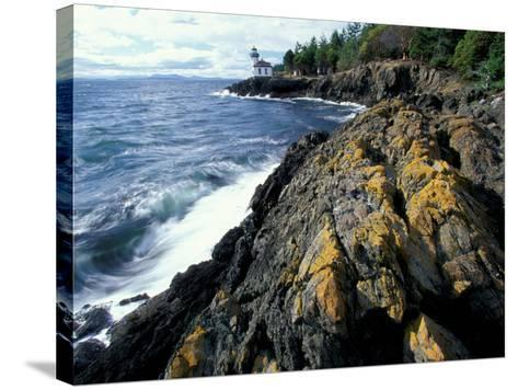 Lighthouse on Coast, Port Townsend, Washington, USA-William Sutton-Stretched Canvas Print