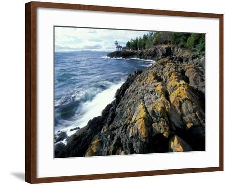 Lighthouse on Coast, Port Townsend, Washington, USA-William Sutton-Framed Art Print