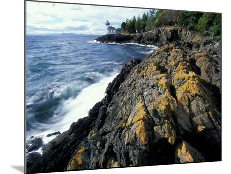 Lighthouse on Coast, Port Townsend, Washington, USA-William Sutton-Mounted Photographic Print