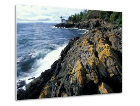 Lighthouse on Coast, Port Townsend, Washington, USA-William Sutton-Metal Print