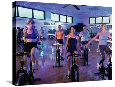 Spinning Class--Stretched Canvas Print