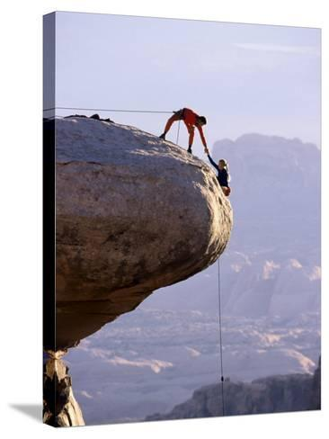 Cooperating Climbers--Stretched Canvas Print
