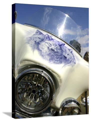 Harley Davidson Motorcycle--Stretched Canvas Print