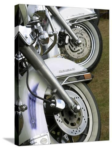 Harley Davidson Motorcycles--Stretched Canvas Print