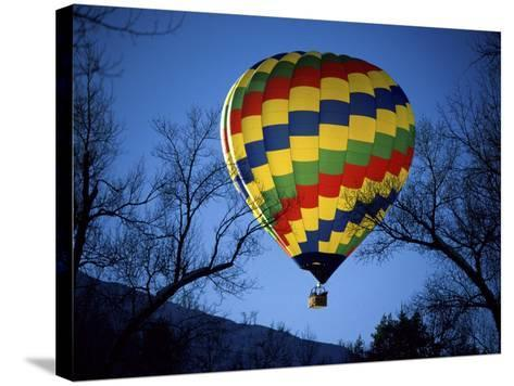 Bright, Colorful Hot Air Ballooon--Stretched Canvas Print