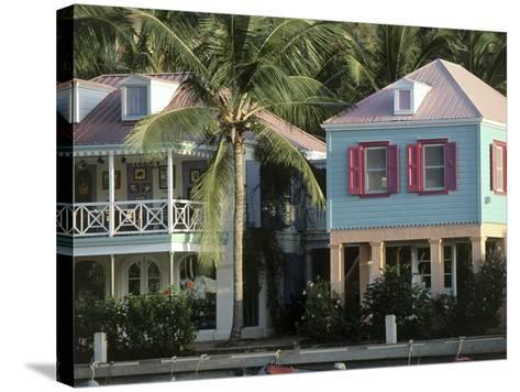 Commercial District of West End and Soper's Hole Tortola, British Virgin Islands--Stretched Canvas Print