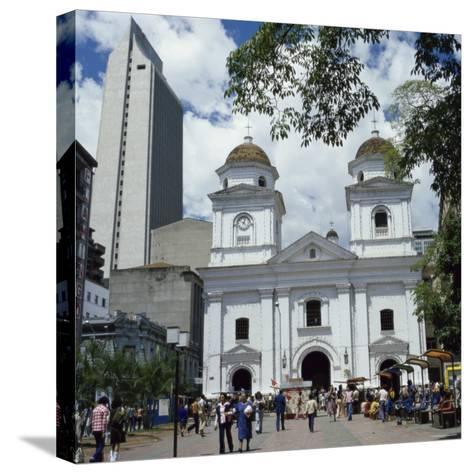 La Candalaria Church, Medellin, Colombia--Stretched Canvas Print