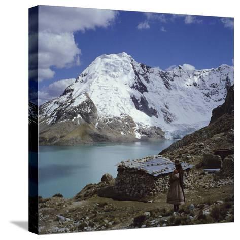 Santa Ana Lake, Raura Range, Peru--Stretched Canvas Print