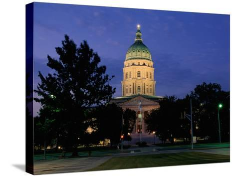 State Capitol, Topeka, USA--Stretched Canvas Print