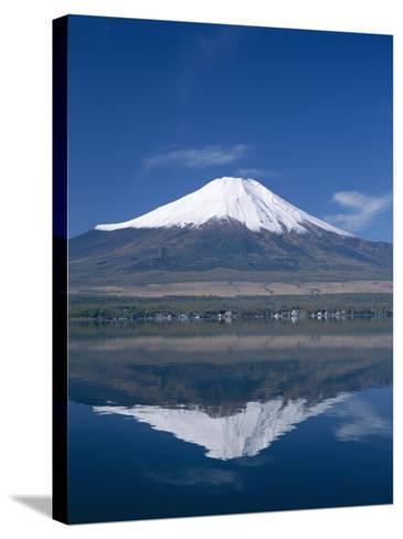 Mount Fuji and Lake Yamanaka, Honshu, Japan--Stretched Canvas Print
