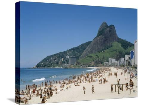 Ipanema Beach, Rio de Janeiro, Brazil--Stretched Canvas Print