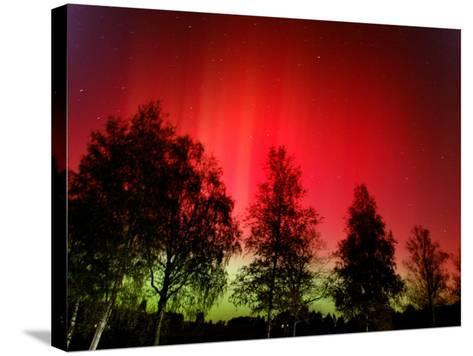 Northern Lights Glow--Stretched Canvas Print