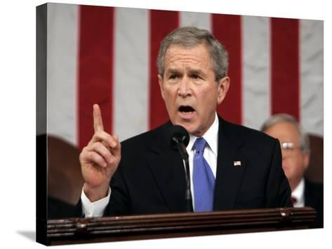 President Bush Delivers His Fifth State of the Union Speech--Stretched Canvas Print