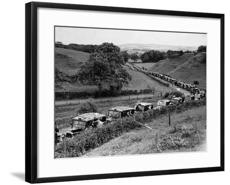 Glasgow Taxis Taking Children from Mearnskirk Hospital on Their Annual Outing to Troon, 1955--Framed Art Print