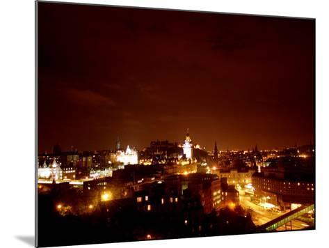 Edinburgh City at Night, October 1999--Mounted Photographic Print