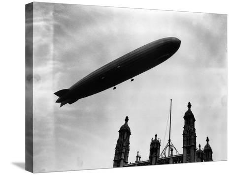 The Graf Zeppelin Airship in London--Stretched Canvas Print