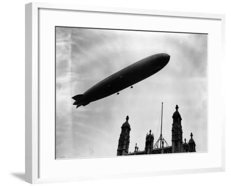 The Graf Zeppelin Airship in London--Framed Art Print