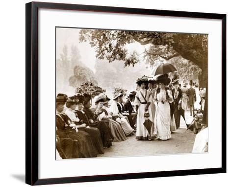 Ladies of Edwardian Society Take a Stroll in Hyde Park, 1905--Framed Art Print