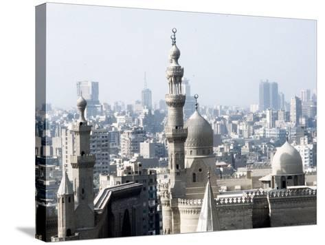 Cairo City, the Mosque of Sultan Hassan--Stretched Canvas Print