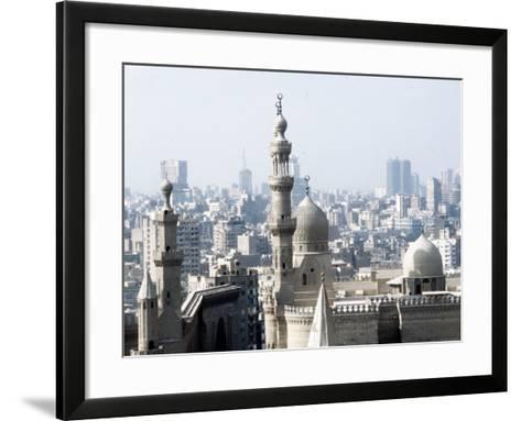 Cairo City, the Mosque of Sultan Hassan--Framed Art Print