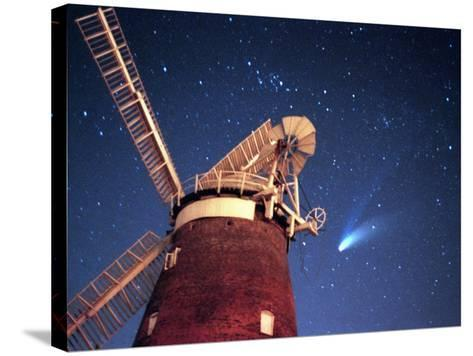 Hale Bopp Comet in Sky Over Thaxted Essex--Stretched Canvas Print