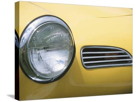 Headlight in Yellow Car--Stretched Canvas Print