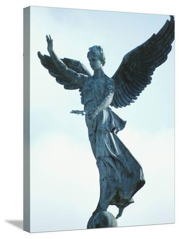 Angelic Statue - Montreal, Quebec, Canada--Stretched Canvas Print