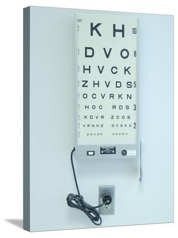 Optometrist's Chart--Stretched Canvas Print