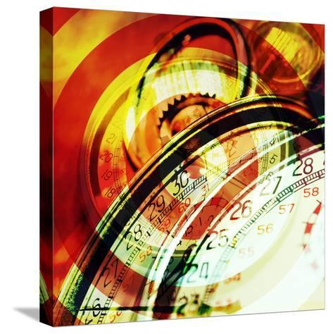 Images of Stopwatches--Stretched Canvas Print