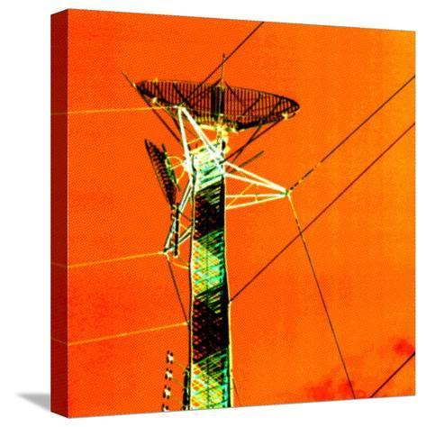Technological Electric Tower with Power Lines--Stretched Canvas Print