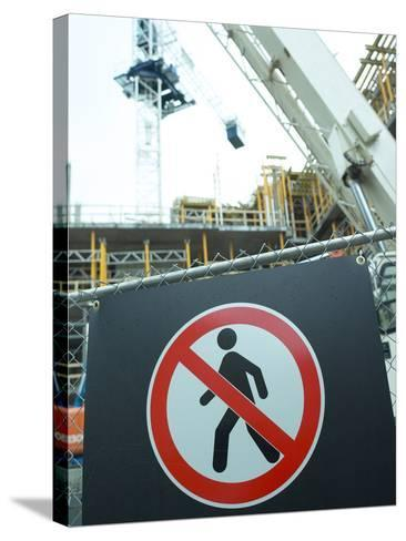 Construction Site--Stretched Canvas Print