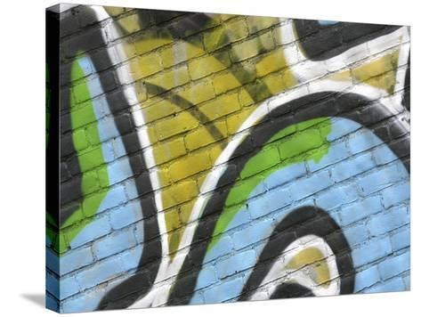 Close-up of Graffiti--Stretched Canvas Print
