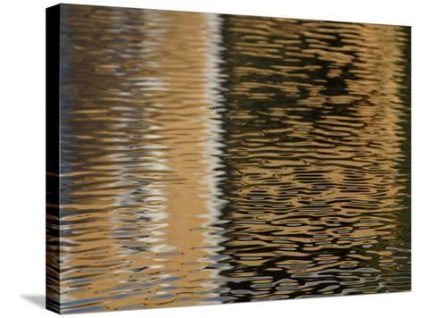 Reflection of Building in Water--Stretched Canvas Print