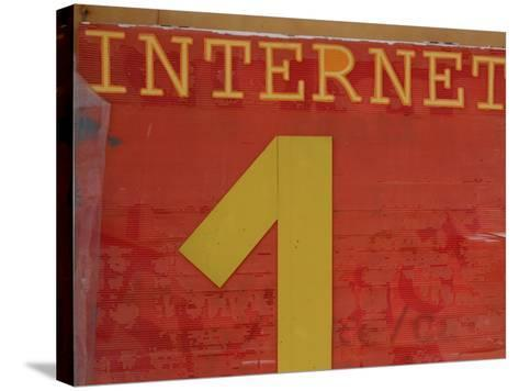 Internet Sign--Stretched Canvas Print
