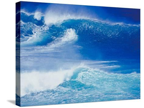 An Ocean Wave in Hawaii--Stretched Canvas Print