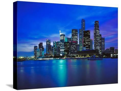 City Skyline at Night--Stretched Canvas Print