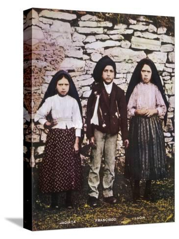 The Three Children Jacinta Francisco and Lucia Who Saw the Vision of Fatima in Portugal--Stretched Canvas Print