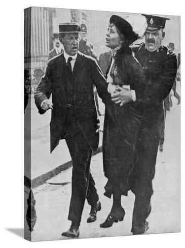 Mrs Pankhurst is Arrested Outside Buckingham Palace--Stretched Canvas Print