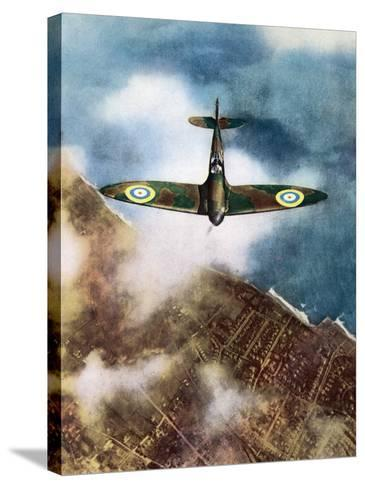 The Legendary Fighter is Seen Here in Its Original Format--Stretched Canvas Print