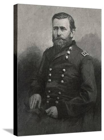 Ulysses S Grant American Civil War General and Later President--Stretched Canvas Print