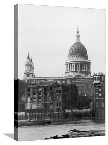 St. Pauls Across Thames--Stretched Canvas Print
