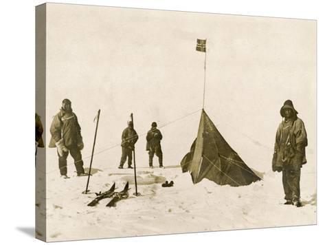 Scott's Team Arrive at the South Pole to Find That Amundsen's Crew Have Beaten Them to It--Stretched Canvas Print