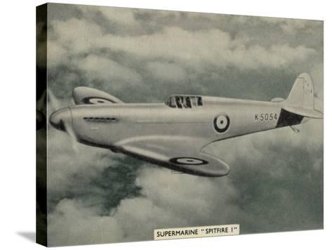 """The """"Spitfire"""" as It Appears at the Outbreak of World War Two a Magnificent Machine--Stretched Canvas Print"""
