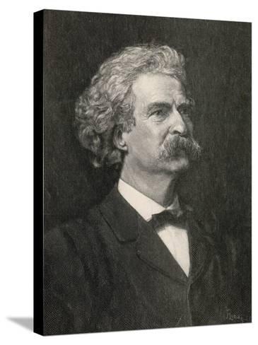 Mark Twain American Writer Creator of Tom Sawyer and Huckleberry Finn--Stretched Canvas Print