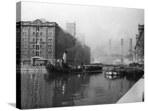 Liverpool Docks--Stretched Canvas Print