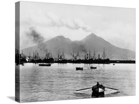 Mount Vesuvius Seen from the Quay of Naples--Stretched Canvas Print