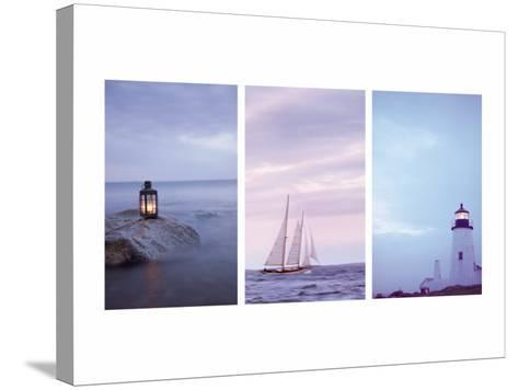 Pilgrim and Guides Triptych--Stretched Canvas Print