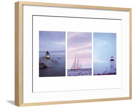 Pilgrim and Guides Triptych--Framed Art Print