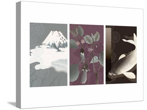 Symbols of Japan Triptych--Stretched Canvas Print